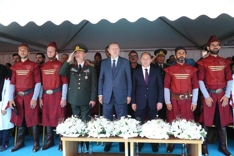 FOTO:İHA - Törene Genelkurmay Başkanı Hulusi Akar ve kuvvet komutanları da katıldı.