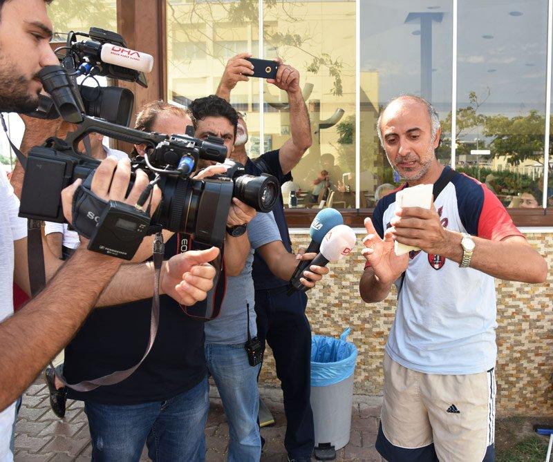 FOTO:DHA - Baba Ersin Arı, otel yönetilimini suçladı.