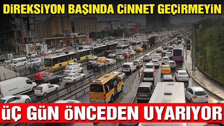 İstanbul'un bayram trafiği haritası