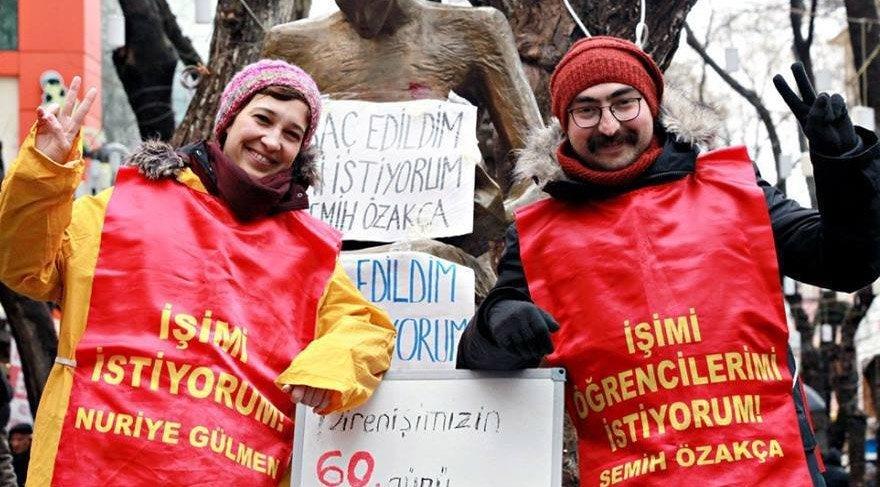 Açıklamada şuan cezevinde tutulan Nuriye Gülmen ve Semih Özakça için