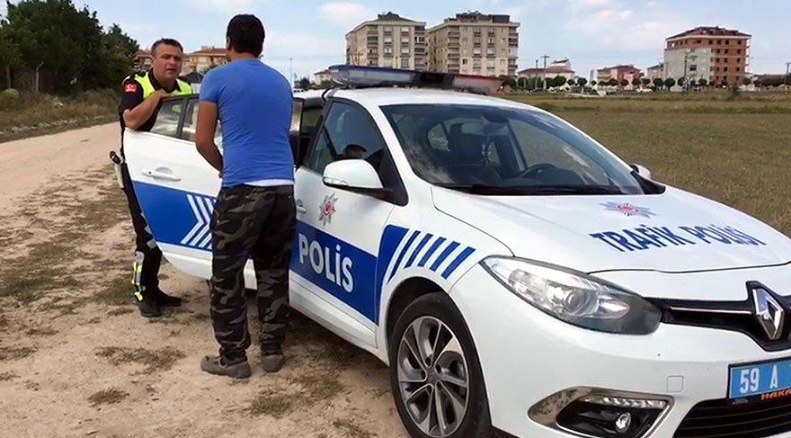 Bonzai kullanıp, kaza yapan sürücü polise yalvardı