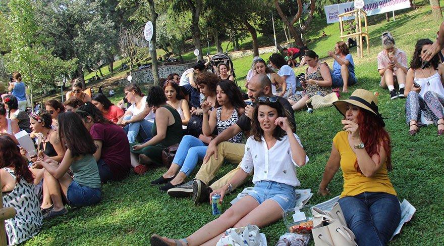 Kadınlardan Maçka Parkı'nda 'Kıyafetime karışma' eylemi