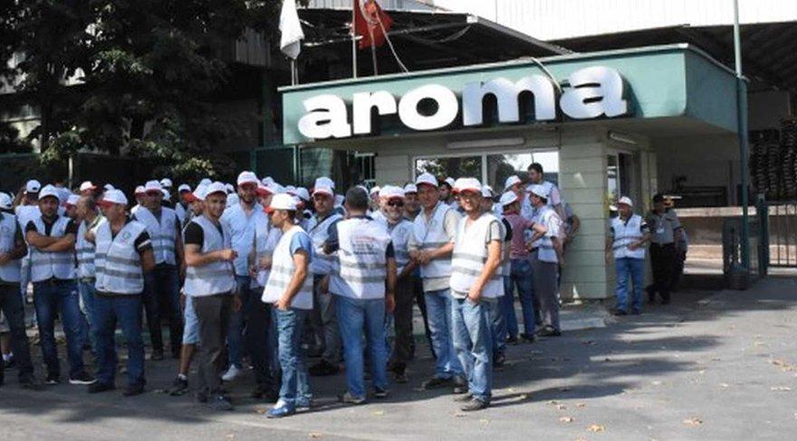 Büyük fabrikada grev başladı