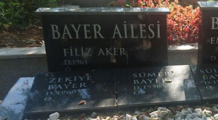 1 ay önce kendi yaptırdı! İşte Vatan Şaşmaz'ı öldüren Filiz Aker'in mezar taşı...