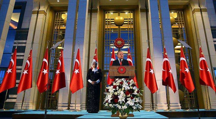 Erdoğan 30 Ağustos resepsiyonunda konuştu: Bu nasıl NATO'da beraber olmak