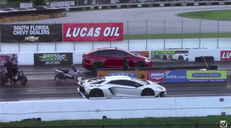 Elektrikli araç yarışta Lamborghini'yi geçti!