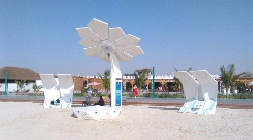 Güneş panelli palmiye ağaçları hepimizi sarj edecek!
