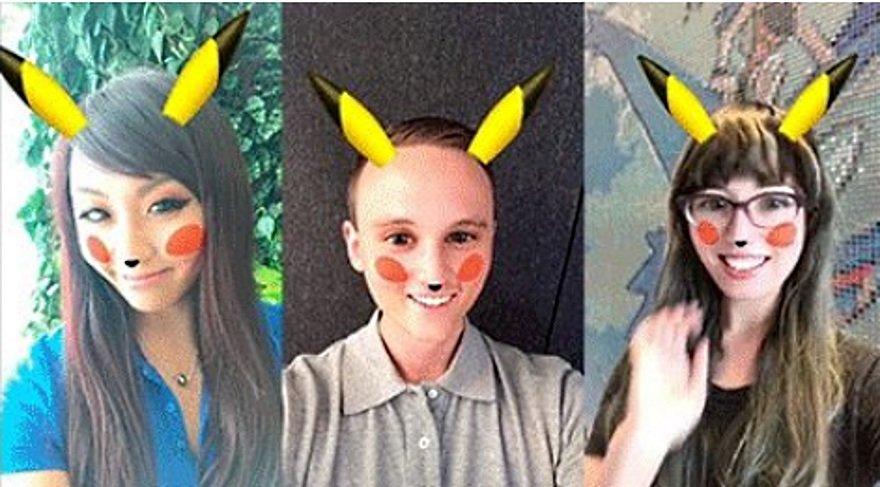 Snapchat uygulamasına Pokemon filtresi eklendi