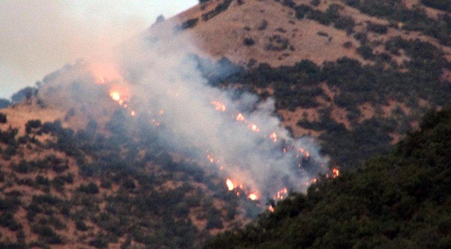 Tunceli'de orman yangını… 6 noktada sürüyor