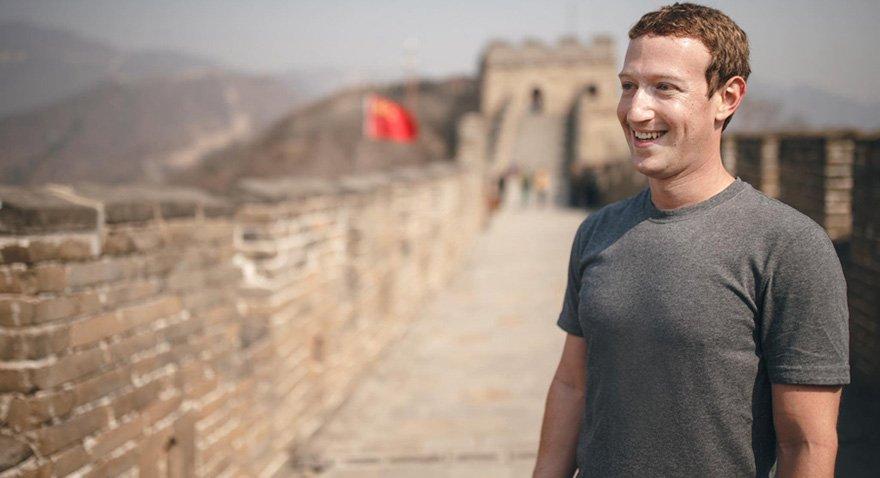 Mark Zuckerberg geçen yıl Çin Seddi'ni ziyaret ederken... Fotoğraf: Facebook