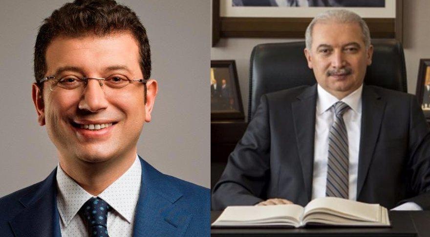 CHP'nin adayı Beylikdüzü Belediye Başkanı Ekrem İmamoğlu (solda) AKP'nin adayı ise Başakşehir Belediye Başkanı Mevlüt Uysal. (Ssağda)