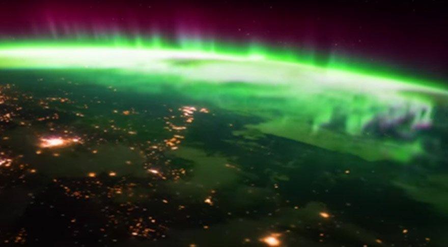 Kuzey Işıkları uzaydan görüntülendi