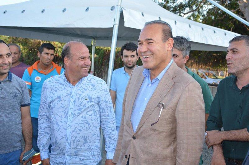 Başkan Sözlü, festivalle ilgili incelemelerde bulundu.