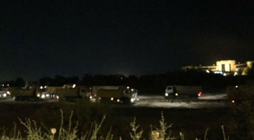 İş makineleri akşam saatlerinde polisle ODTÜ ormanına girdi