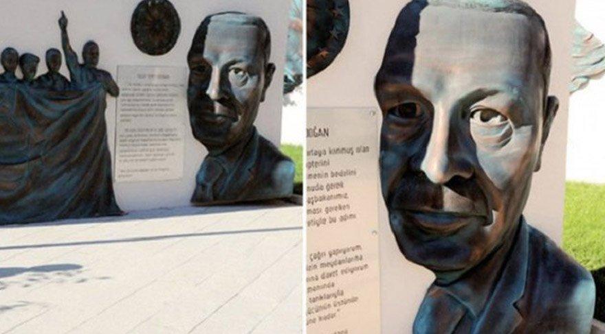 Cumhurbaşkanı Erdoğan'dan 'heykel' tepkisi