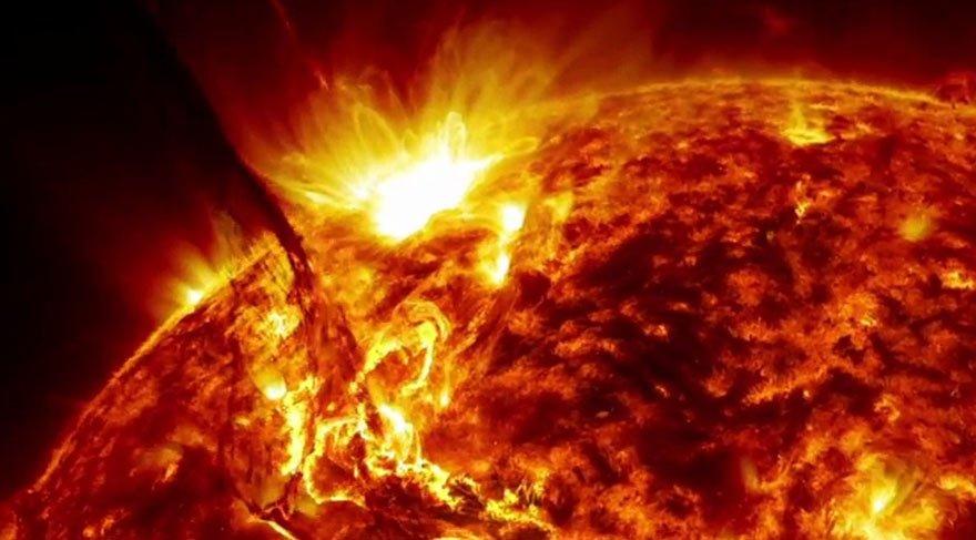 Güneş'te çok büyük patlama meydana geldi