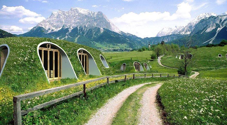 Alternatif yaşam arayanlara: Hobbit evleri