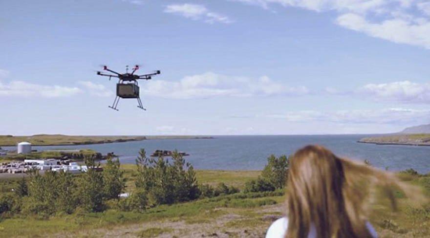 İzlanda'da pizza siparişleri artık göklerden gelecek
