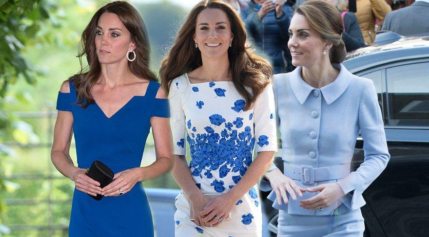 Kate Middleton'ın mavi tutkusu