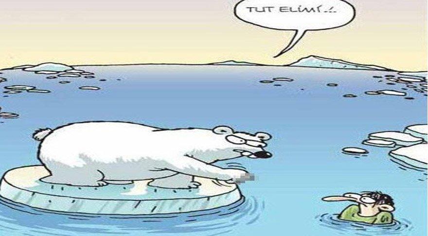 Kutup ayısı karikatürünün sahibi Selçuk Erdem sosyal medyadan seslendi