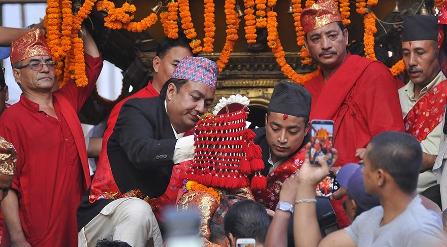 Katmandu'da Indra Jatra Festivali