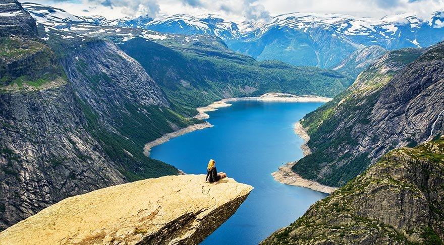 Yeşil ve mavi bir arada: Norveç Fiyortları