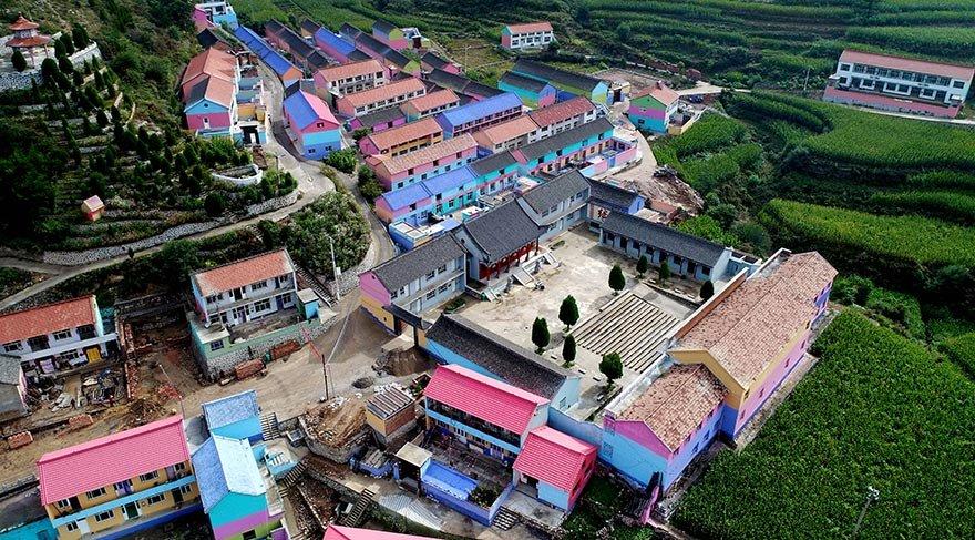 Çin'deki rengarenk köy