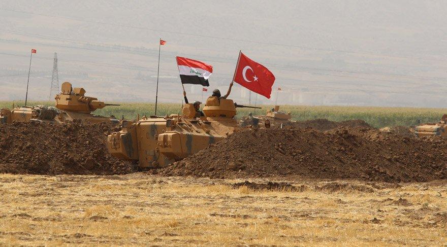Habur'daki TSK'nın tatbikat alanına Irak askerleri geldi