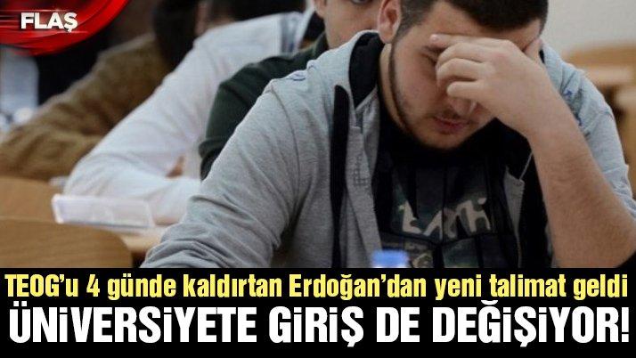 Son dakika... Erdoğan'dan üniversite sınavı ile ilgili ilk sinyal: O da olacak