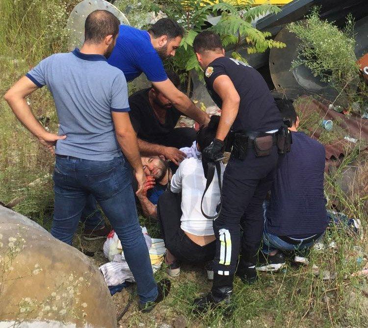 FOTO:İHA - Olayda bir kişi yaralandı.