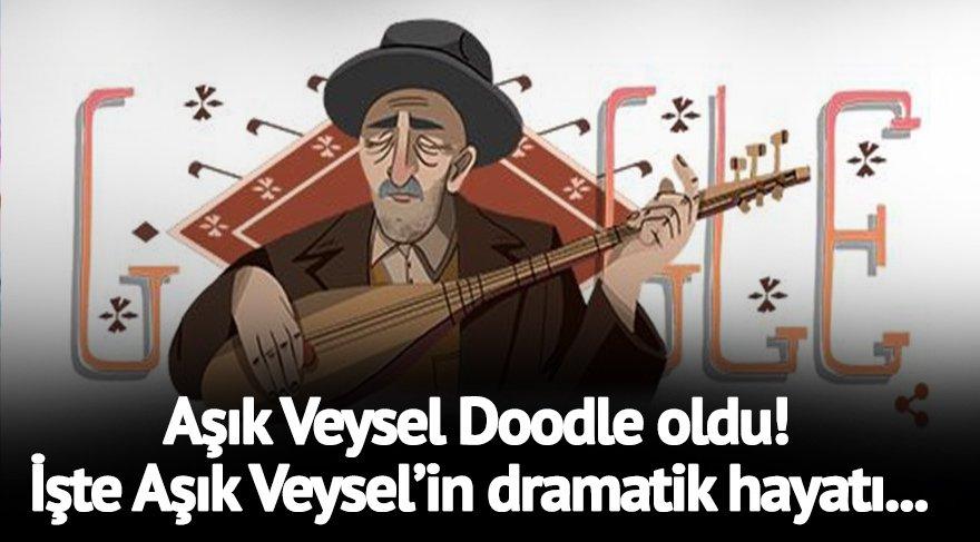 Aşık Veysel Doodle oldu! İşte Doodle olan ünlü ozanımız Aşık Veysel'in dramatik hayat hikayesi…