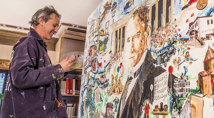 İngiliz ressamdan 'Cumhuriyetin Mimarı: Mustafa Kemal' sergisi