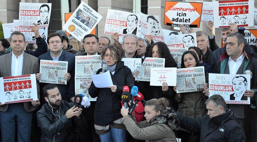Cumhuriyet gazetesi davası öncesi açıklama