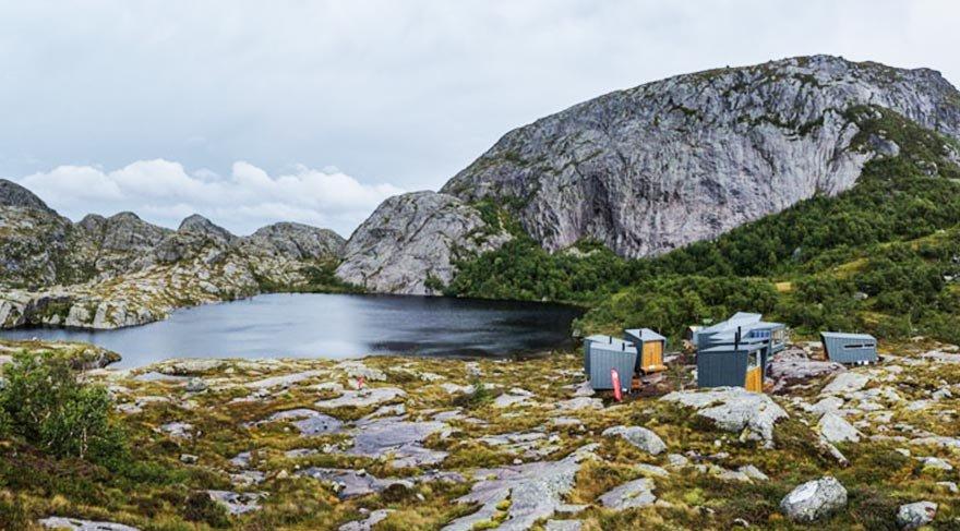 Doğa yürüyüşü yapanlara özel dağ kulübeleri