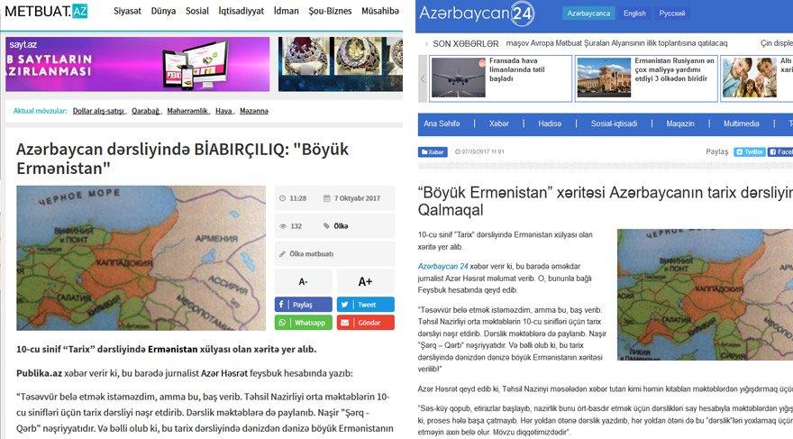 Azerbaycan basını da tartışmaları haberleştirdi.