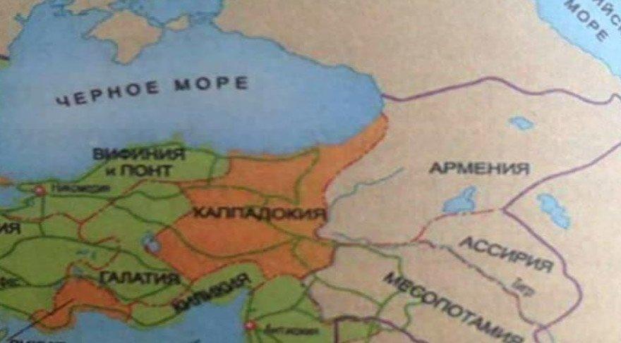 Azerbaycan ders kitabındaki Türkiye haritası ortalığı karıştırdı
