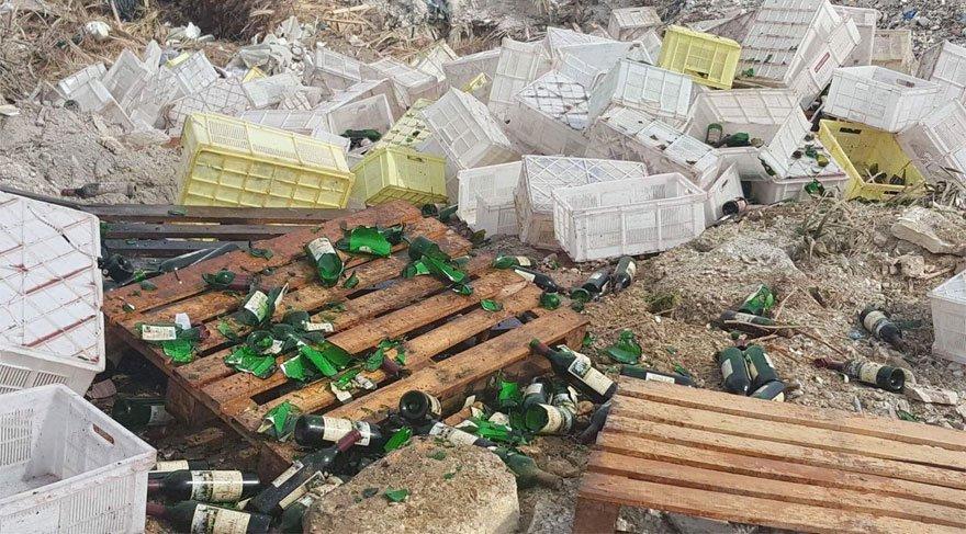40 bin şişe kaçak içki imha ediliyor