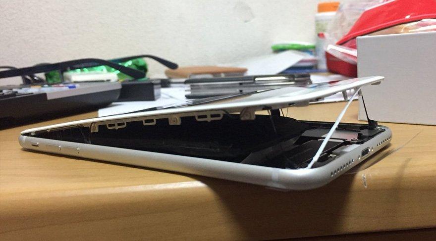 Görenler şok oluyor! iPhone 8 Plus hatalı üretilmiş olabilir...