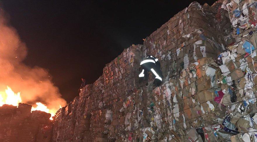 Kahramanmaraş'ta kağıt fabrikasında yangın