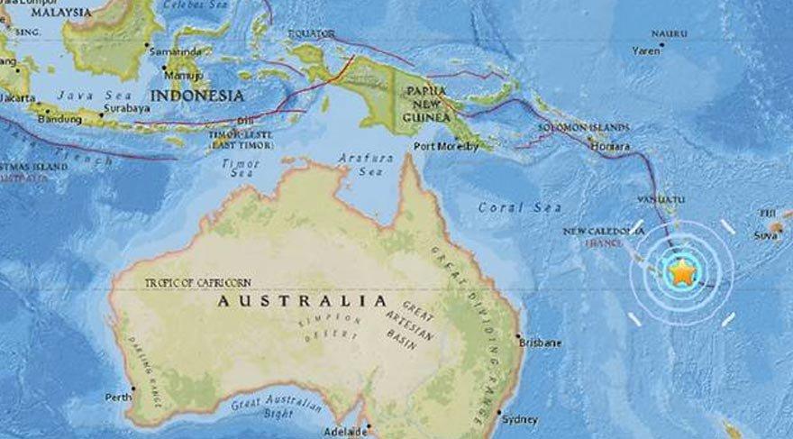 Okyanusya'da 7 büyüklüğünde deprem