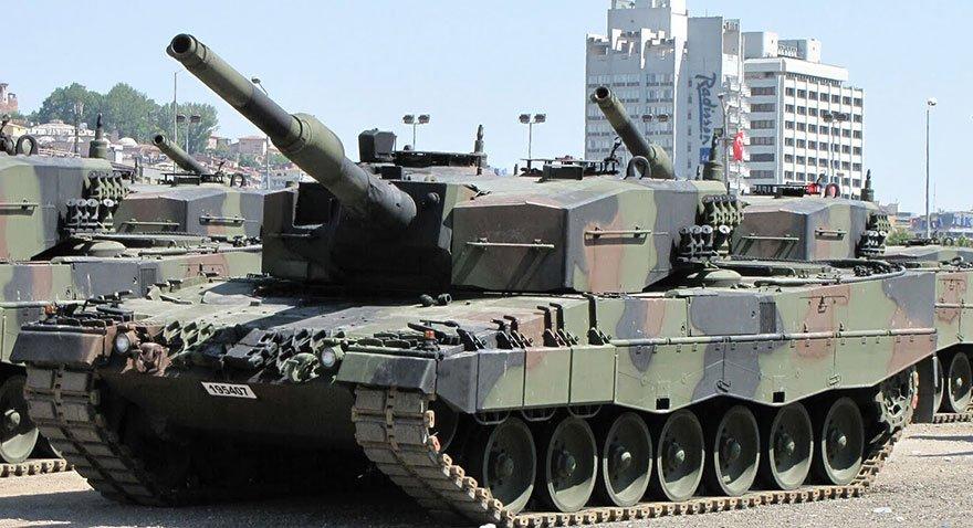 TSK envanterinde bulunan Leopard 2A4 tankı. Fotoğraf: Ceyhun Pursak