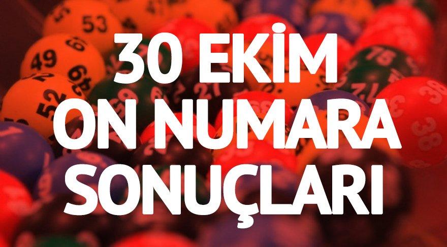 30 Ekim On Numara sonuçları: Yine kazandırdı | MPİ On Numara çekiliş sonucu