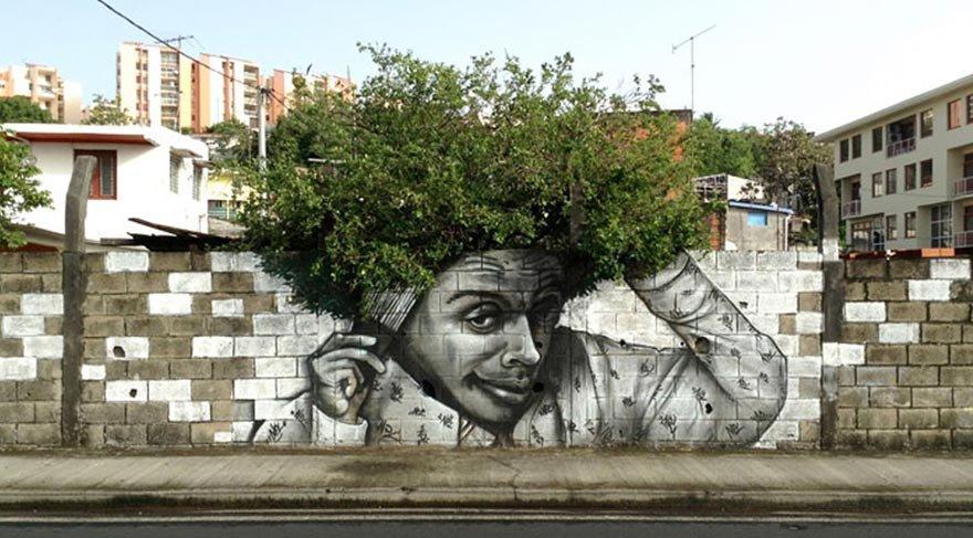 Sokak sanatının doğayla buluşması