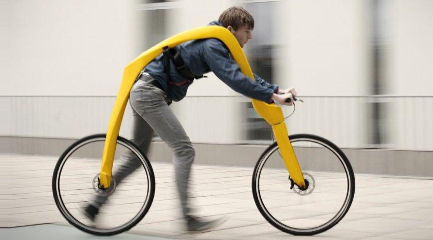 Bisiklet olarak üretilen ilginç aracın ne işe yaradığı anlaşılamadı