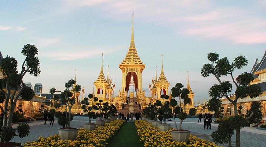 Tayland Kralı'nın yakılacağı saray tamamlandı