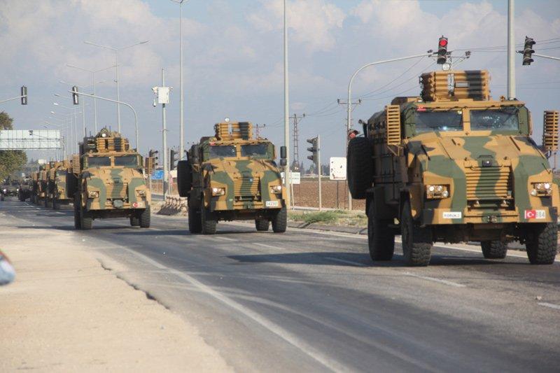 FOTO:İHA - Hatay'a günlendir askeri sevkiyat yapılıyordu.