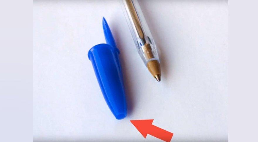 Tükenmez kalemin kapağı meğer hayat kurtarıyormuş!