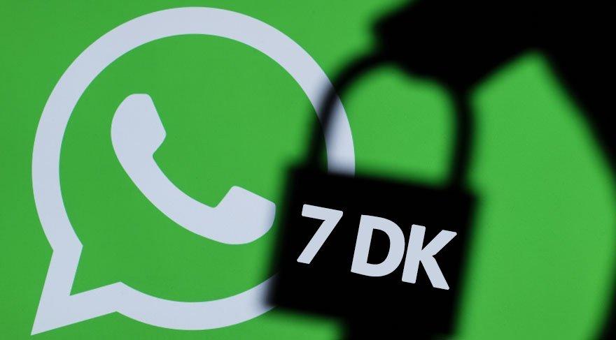 WhatsApp kullananlar dikkat: 7 dakikanız var