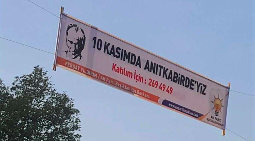 AKP'nin 10 Kasım afişlerinden biri...