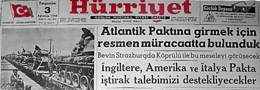 Türkiye'nin NATO'ya müracaatlarından biri...